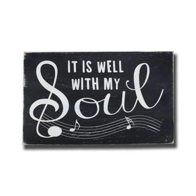 it is well with my soul, sign, - Barn Owl Primitives, vintage wood signs, typography decor,