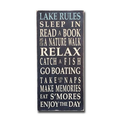 lake rules, sign, Barn Owl Primitives, home decor, vintage inspired decor