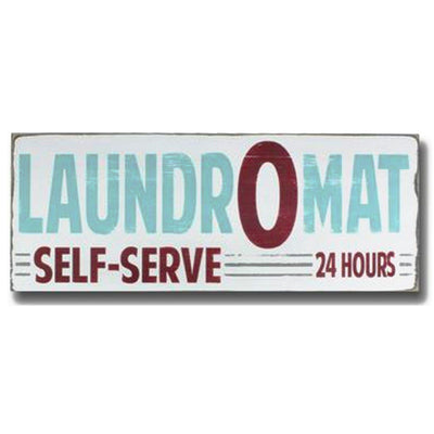 laundry O mat, sign, - Barn Owl Primitives, vintage wood signs, typography decor,