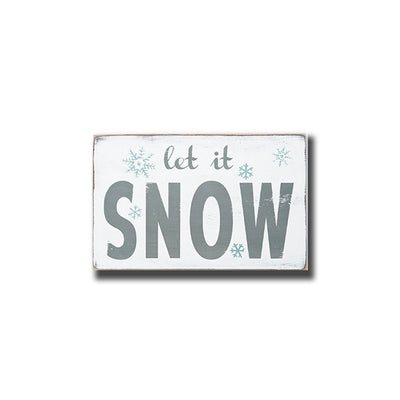 let it snow, sign, - Barn Owl Primitives, vintage wood signs, typography decor,