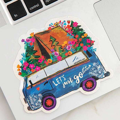 Let's Just Go Sticker