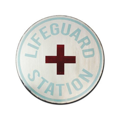 lifeguard station, sign, - Barn Owl Primitives, vintage wood signs, typography decor,
