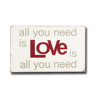love is all you need, sign, - Barn Owl Primitives, vintage wood signs, typography decor,