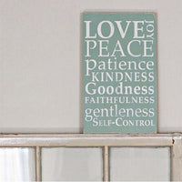 love peace patience, sign, - Barn Owl Primitives, vintage wood signs, typography decor,
