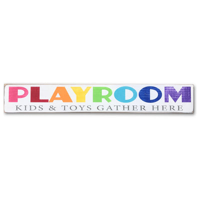 playroom sign - kids and toys gather here
