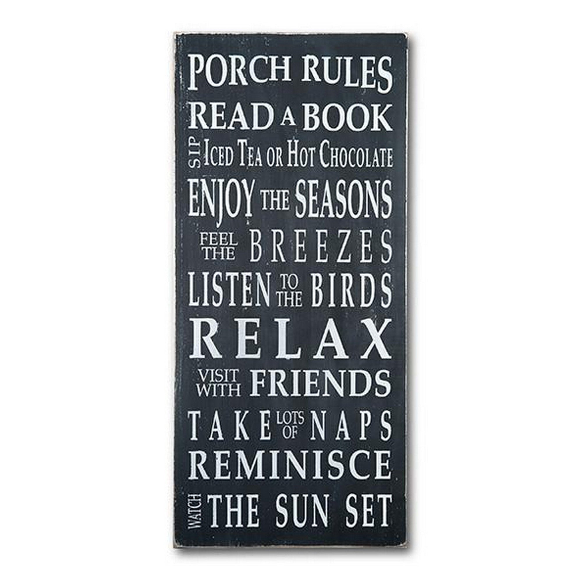Porch Rules Typography Word Sign Barn Owl Primitives