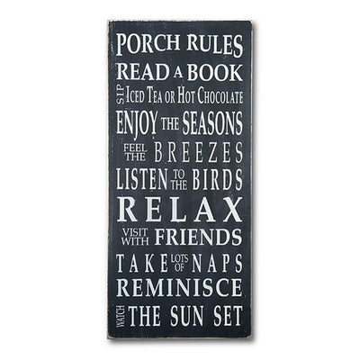 porch rules - sale, sign, - Barn Owl Primitives, vintage wood signs, typography decor,