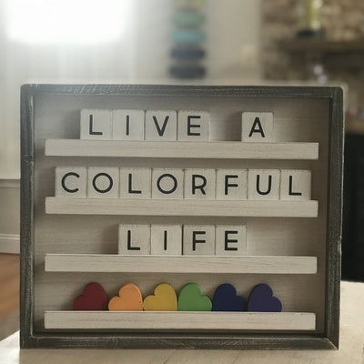 Rainbow Hearts for Letter Boards
