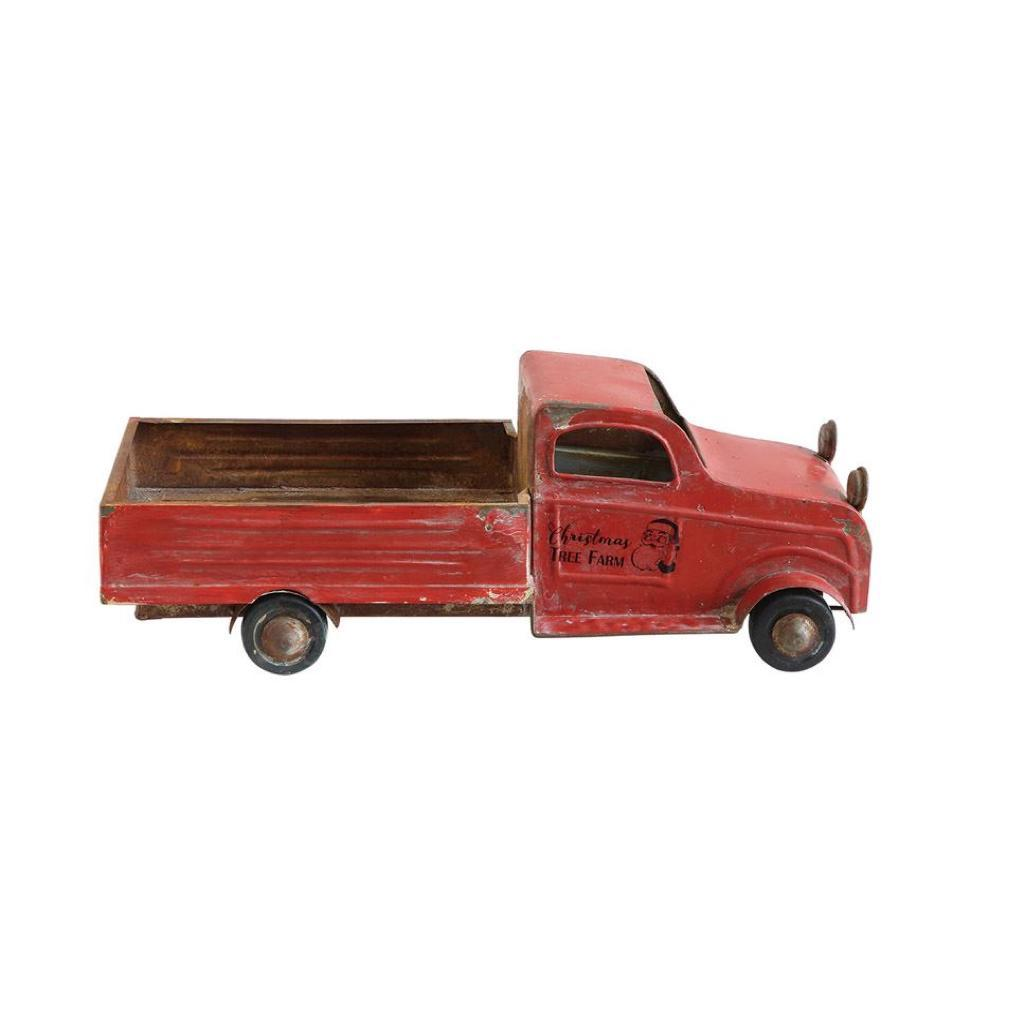 Red Christmas Truck.Red Christmas Truck