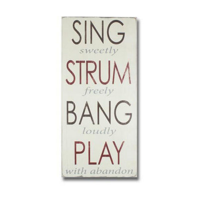 sing strum bang play - Barn Owl Primitives  - 1