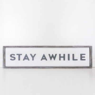Stay Awhile Reversible Sign