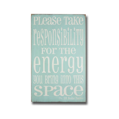 please take responsibility, sign, - Barn Owl Primitives, vintage wood signs, typography decor,