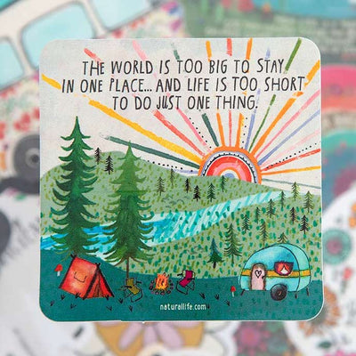The World Is Too Big Sticker