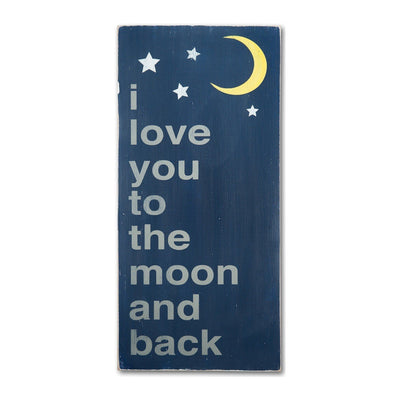 i love you to the moon and back, sign, Barn Owl Primitives, home decor, vintage inspired decor
