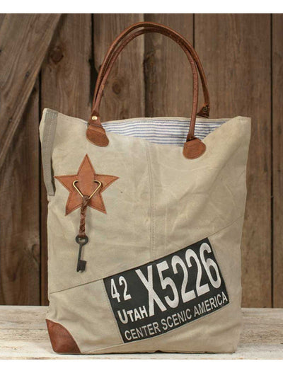 classic utah canvas tote, tote bag, Barn Owl Primitives, home decor, vintage inspired decor