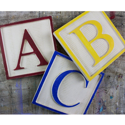 large A, B, C, alphabet set, sign, - Barn Owl Primitives, vintage wood signs, typography decor,