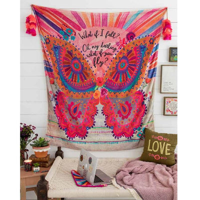 What If You Fly Tapestry Blanket