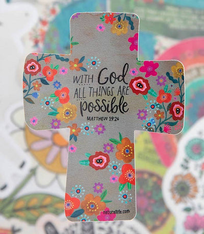 With God All Things are Possible Sticker