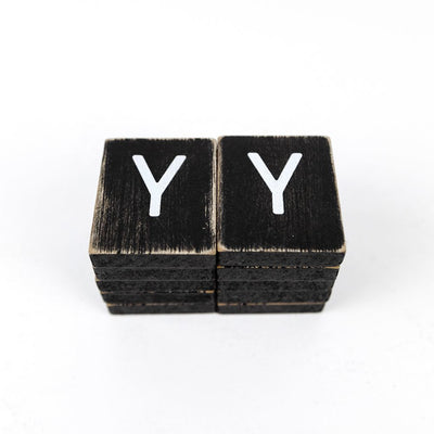 Extra Individual Letters for Letter Boards Black Tiles