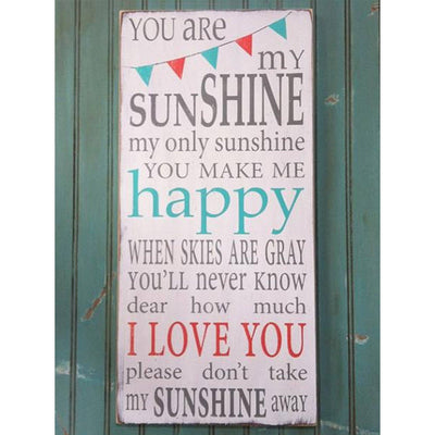 you are my sunshine bunting - Barn Owl Primitives  - 2