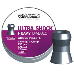 JSB Diabolo Heavy Ultra Shock .22 - 25.39gr / 1.645g / 5.52 - 150pc