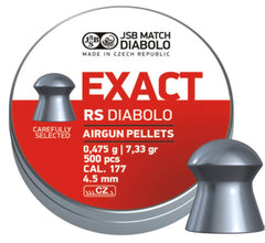 JSB Exact RS .177 - 4.52mm - 7.33gr / 0.475grms -