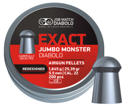 JSB Exact Jumbo Monster REDESIGNED .22 / 5.52mm - 25.39gr / 1.645grms - 200pc