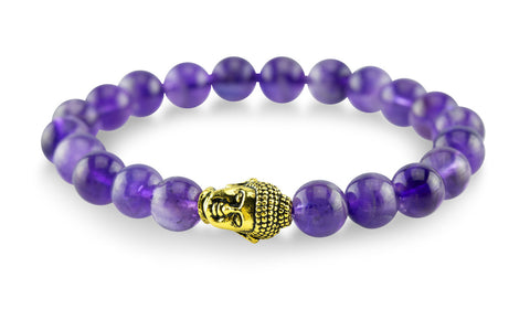 Gold Plated Buddha Purple Bracelet - Yesah