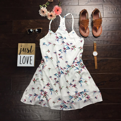 Yesah White Bird Dress - Yesah