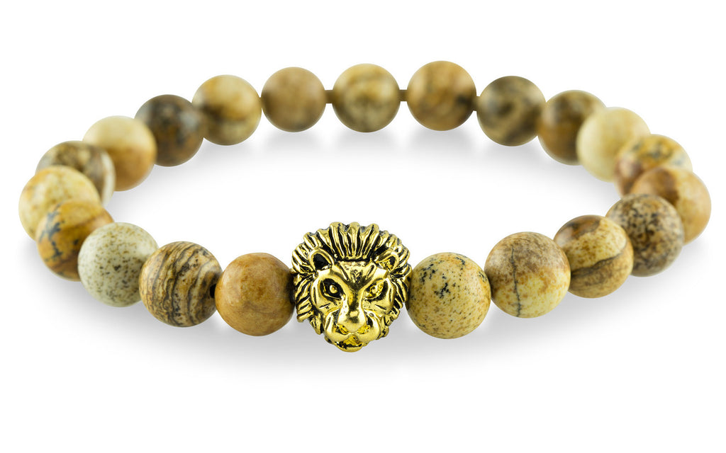 Gold Plated Lion Tan Bracelet - Yesah