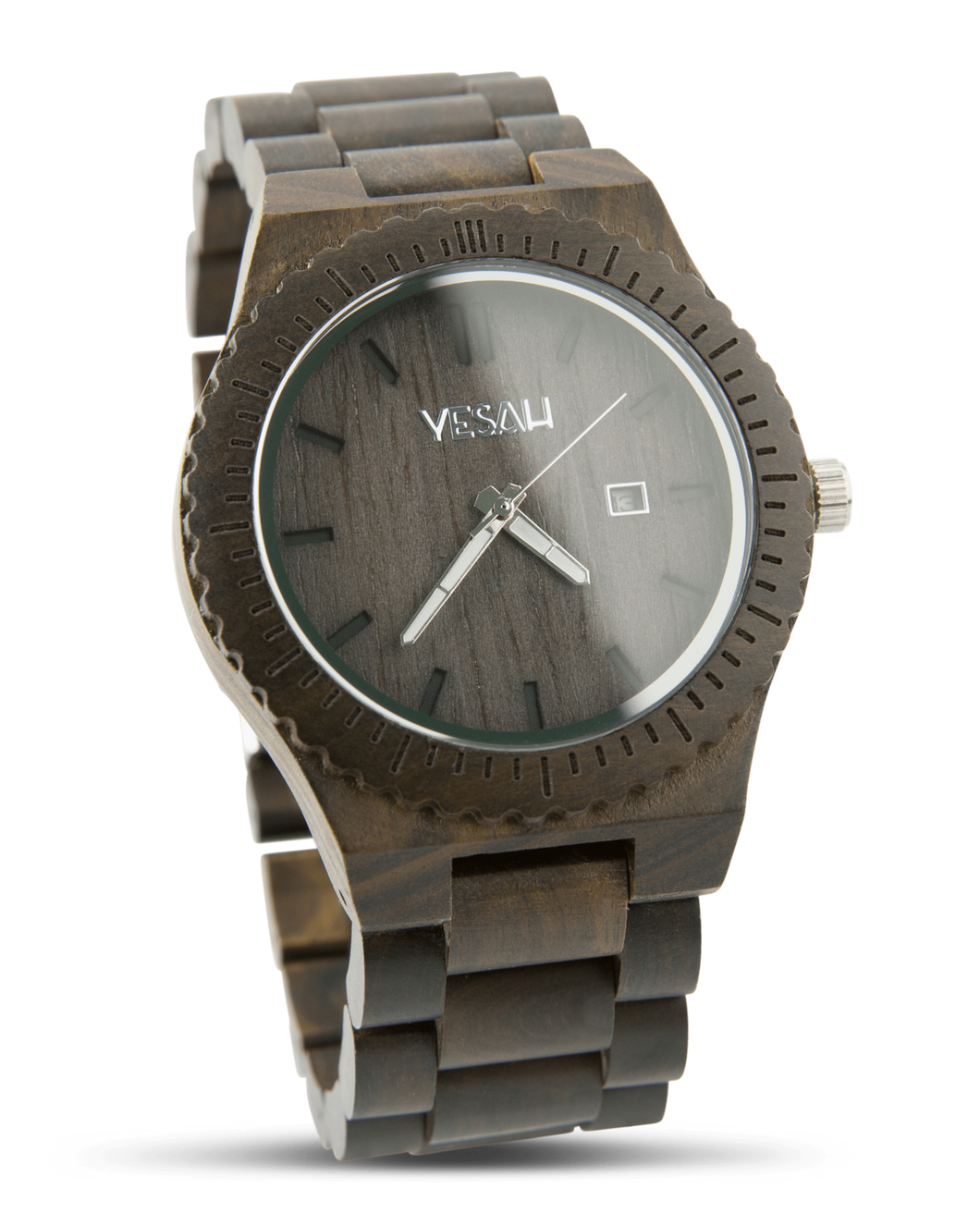 Yesah Bear Wooden Watch (Silver Edition)