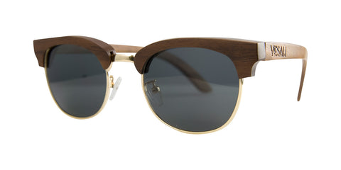 Yesah Clubmaster Wooden Sunglasses