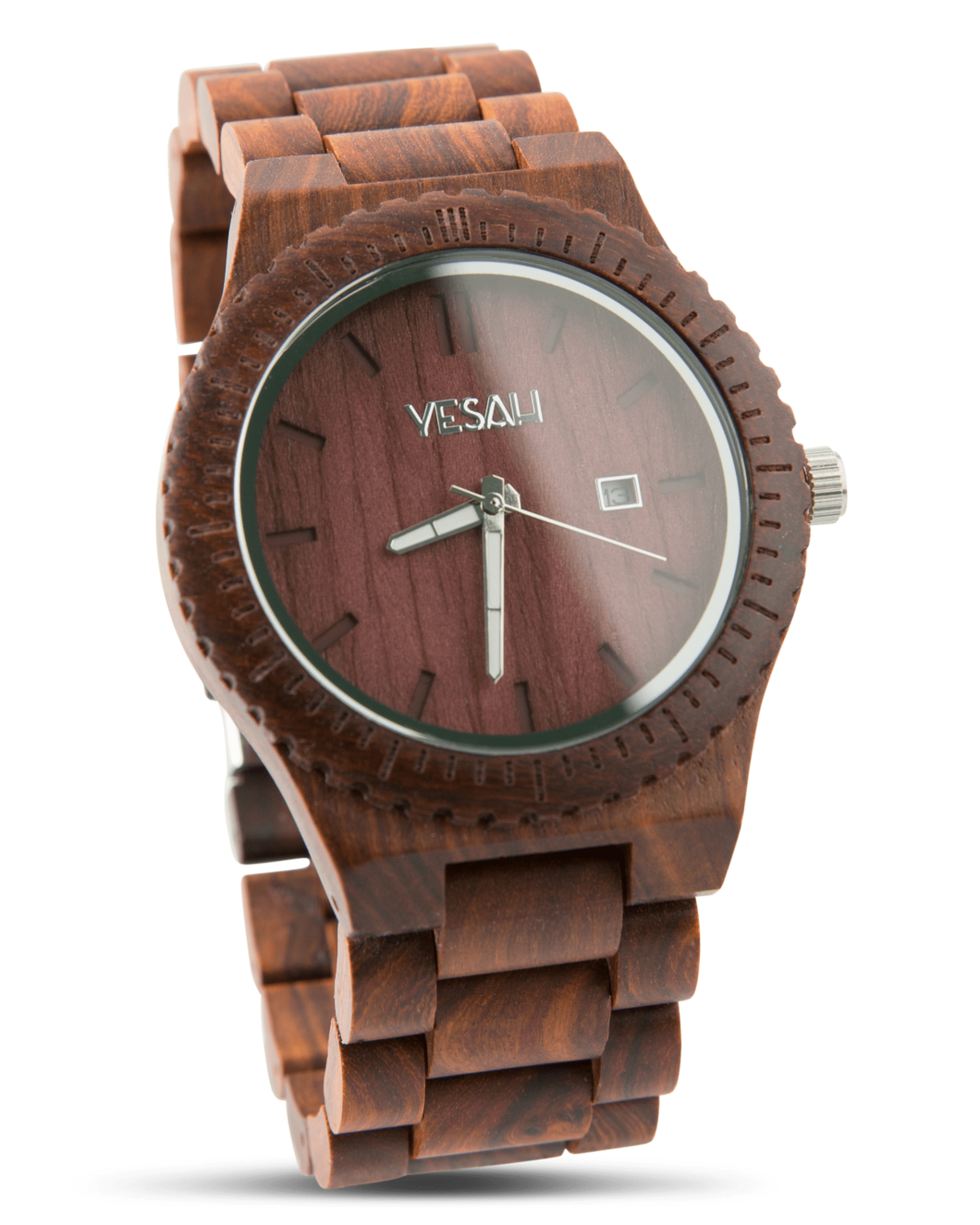Yesah Hawk Wooden Watch (Silver Edition)