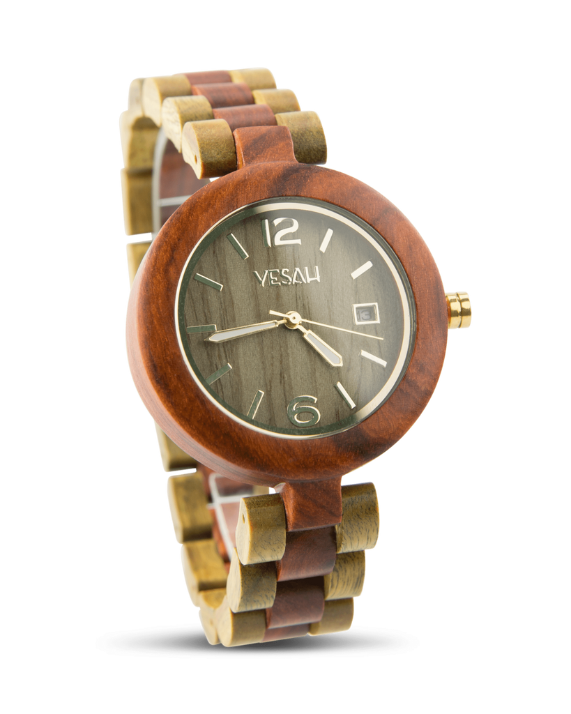 Yesah Fox Wooden Watch