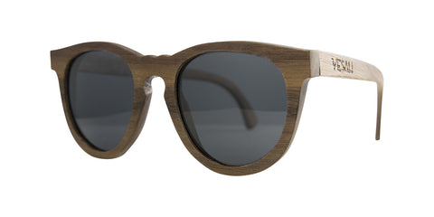 Yesah Round Walnut Wooden Sunglasses