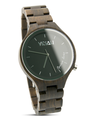 Yesah Signature Series Bear Wooden Watch (Silver Edition)