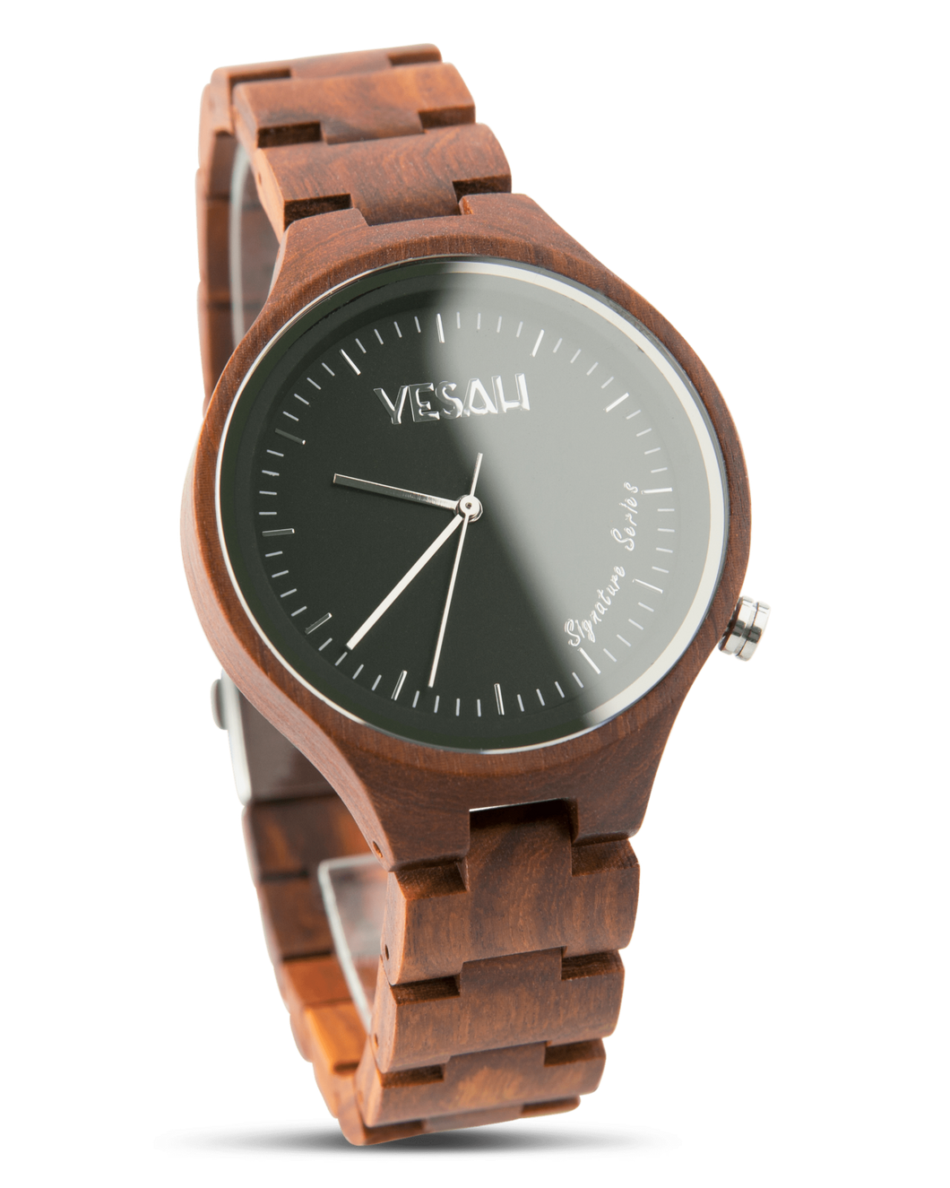 Yesah Signature Series Hawk Wooden Watch (Silver Edition)