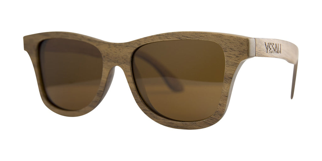 Yesah Walnut Wayfarer Wooden Sunglasses (Tea)