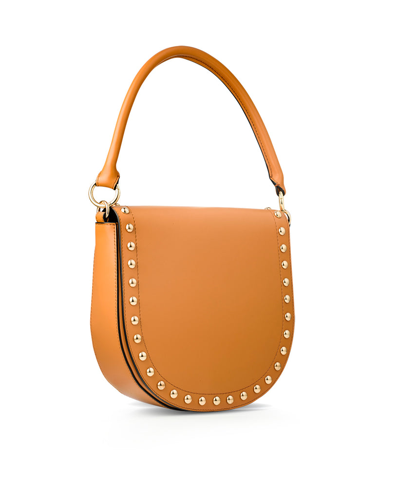 Studded Handbag with top handle