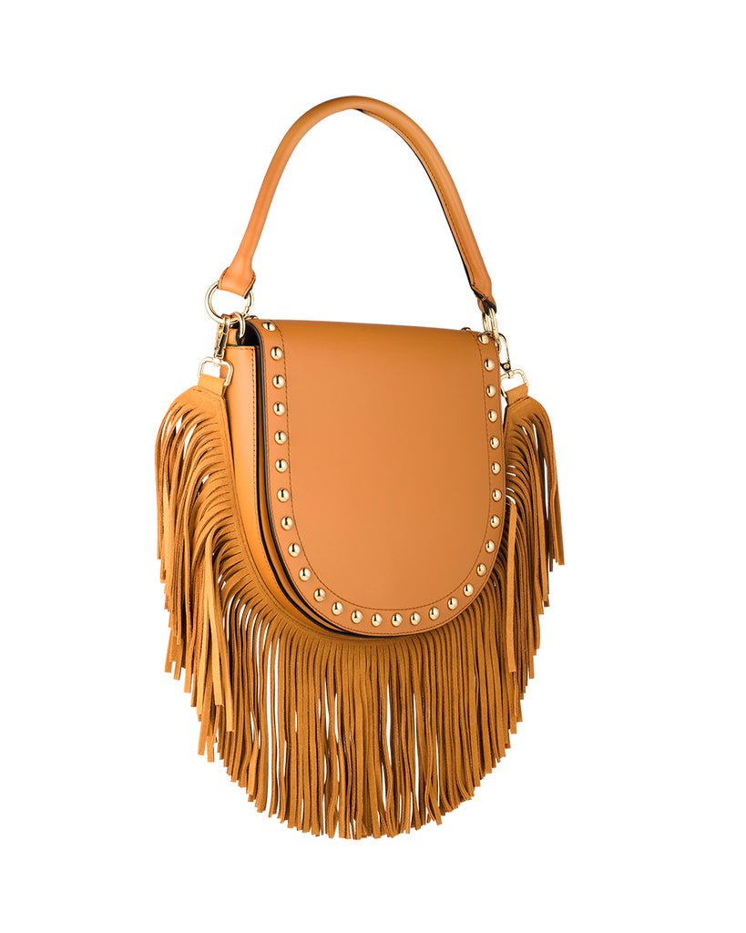 Coachella Handbag with Fringe and adjustable strap