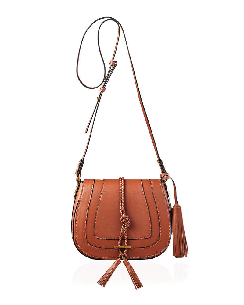 Tan Saddle Bag in Leather