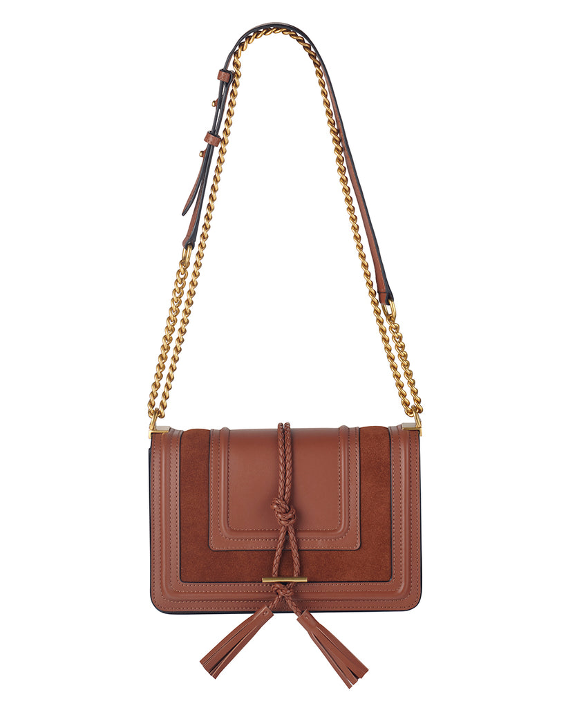 Tan Suede Crossbody Bag