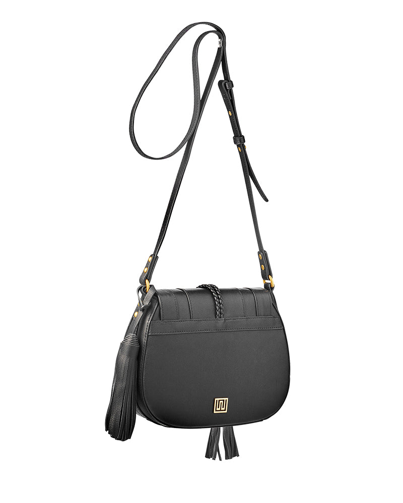 'Harriet' Maxi Saddle Bag - Black