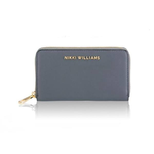 Charcoal grey fashion wallet in 100% leather by designer Nikki Williams