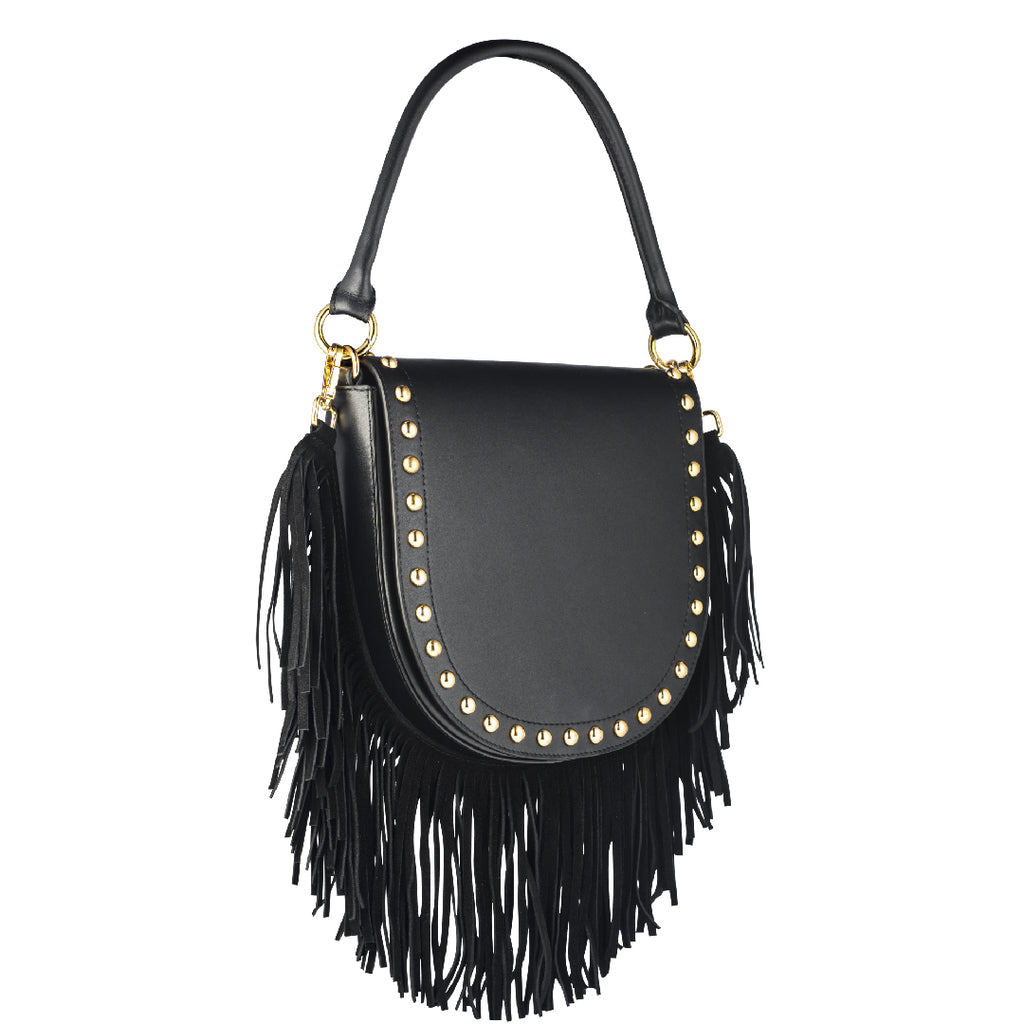 Coachella Fringe Bag - Black