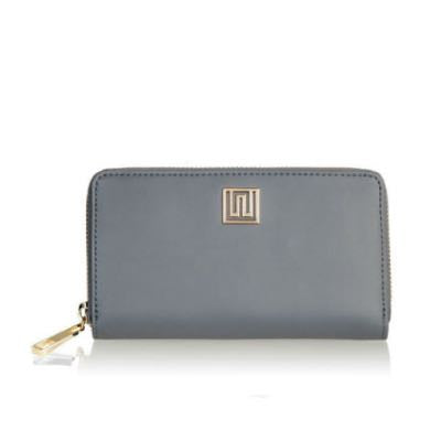 'Bellini' Charcoal Leather Wallet / Purse