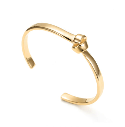 Gold Cuff Knot Bangle