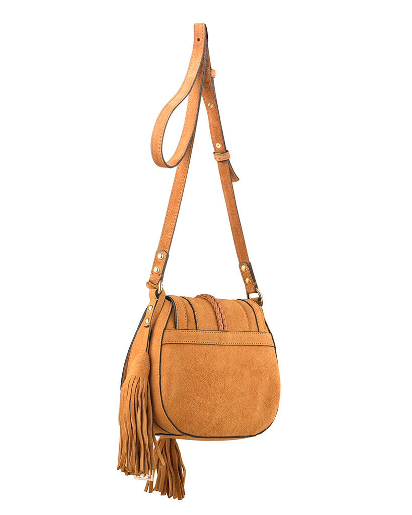 'Harriet' Saddle Bag - Desert Suede