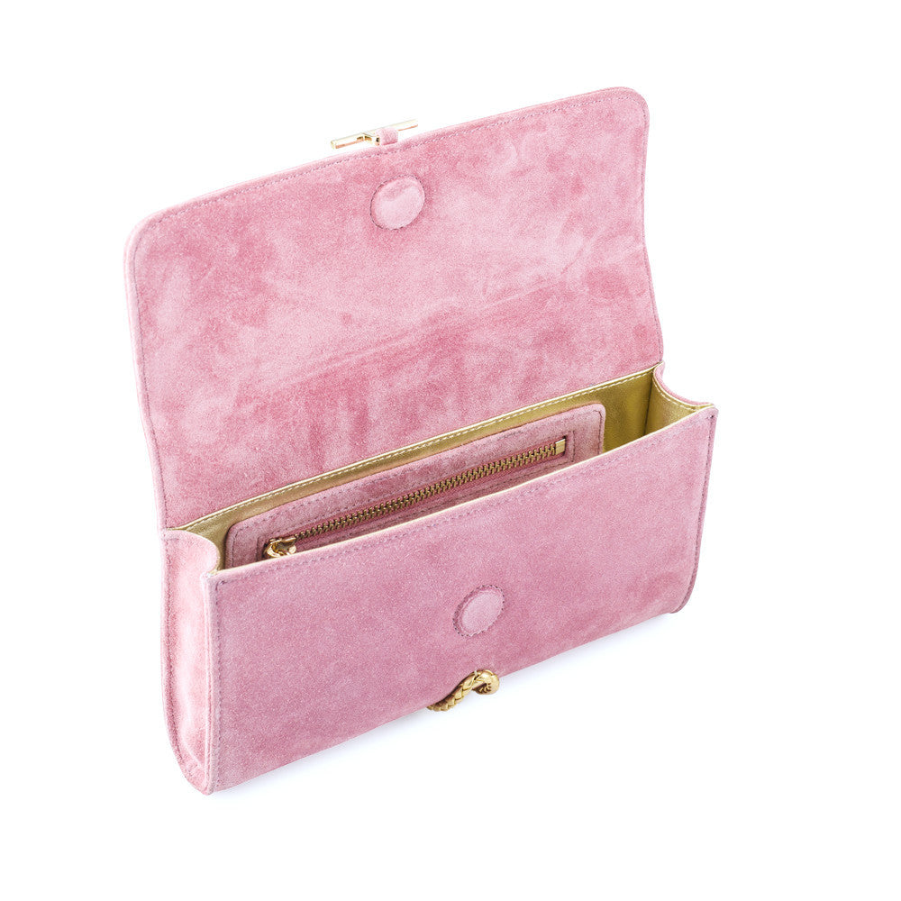 Pink Clutch with Gold Tassel