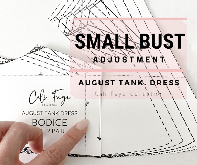 Small Bust Adjustment - August Tank Dress